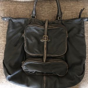 J. Crew Collection Lambskin Distressed Large Bag
